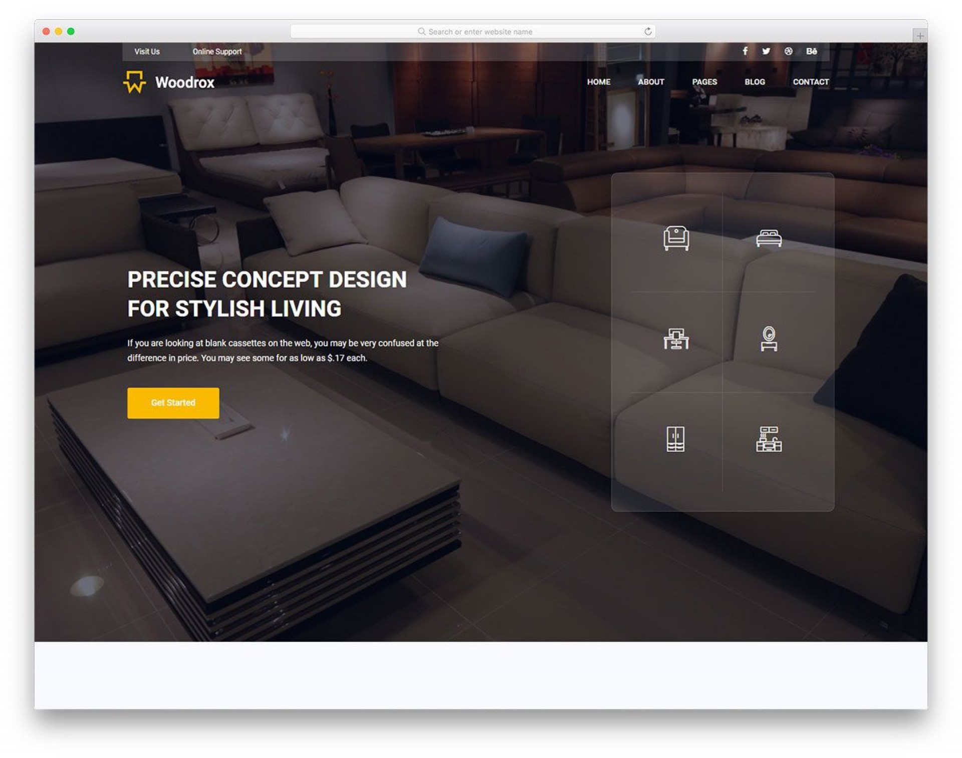009 Amazing Interior Design Html Template Free High Definition  Download1920