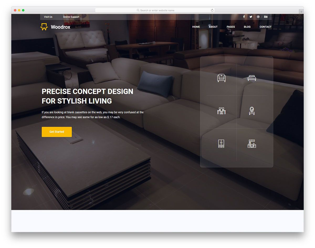 009 Amazing Interior Design Html Template Free High Definition  DownloadFull