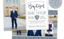009 Amazing Ld Baptism Invitation Template Photo