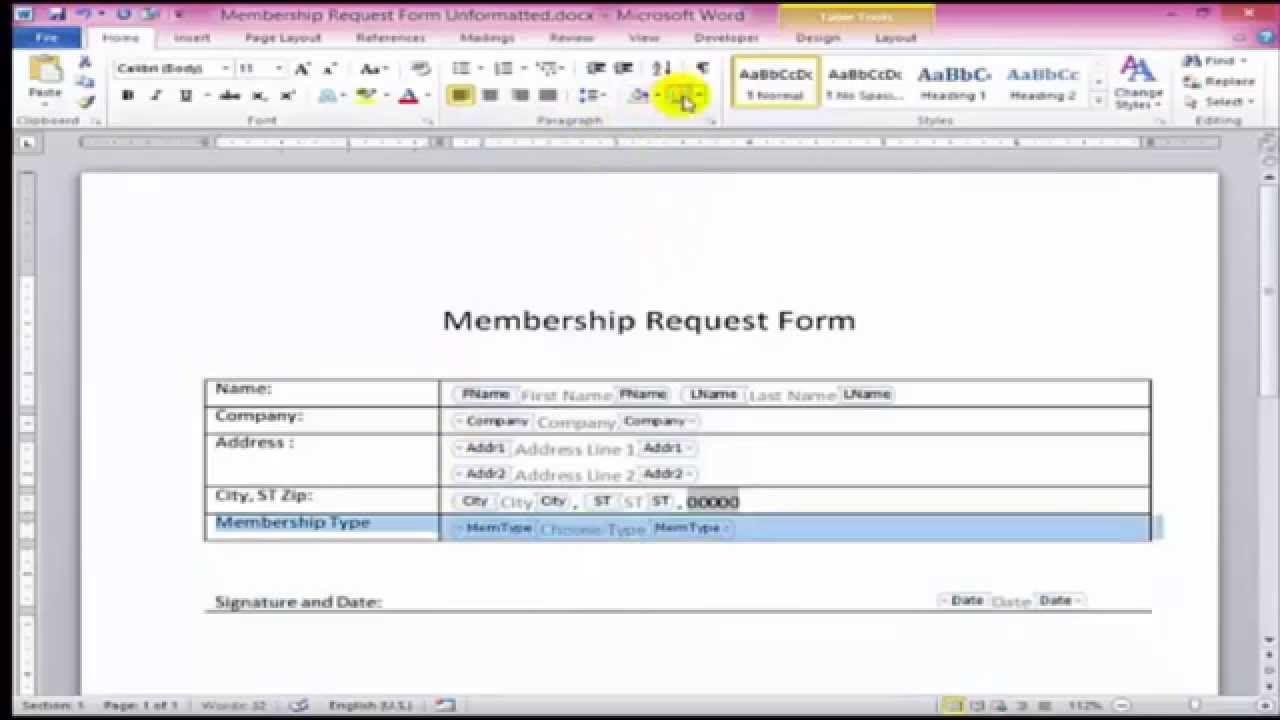 009 Amazing Microsoft Word Form Template Photo  Free OrderFull