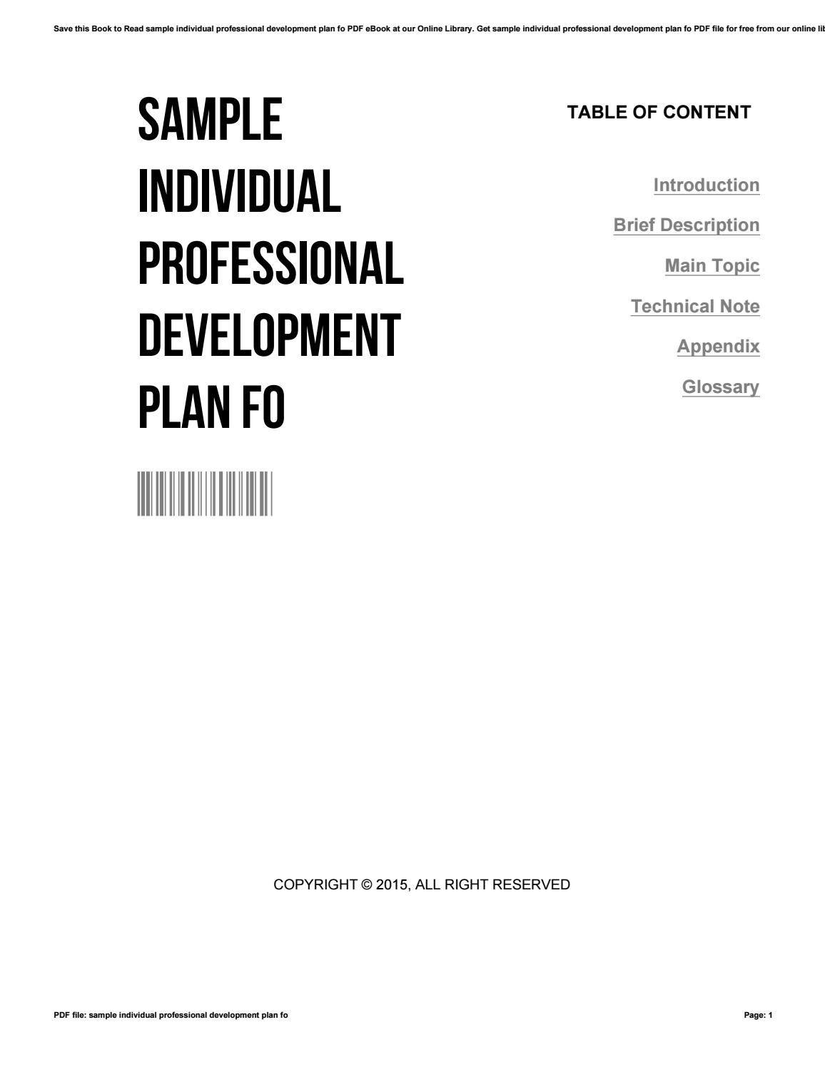 009 Amazing Professional Development Plan Template Pdf Picture  Sample ExampleFull