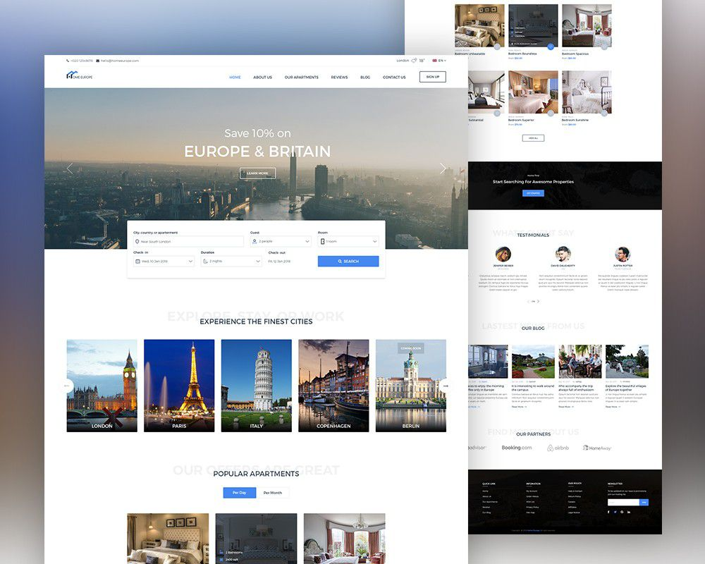 009 Amazing Real Estate Website Template Picture  Templates Free Download Bootstrap 4 Listing WordpresFull