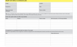 009 Amazing Site Specific Safety Plan Form Concept  Forms Evaluation