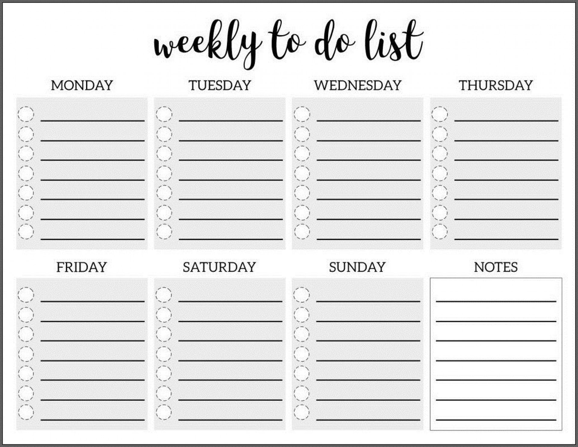 009 Amazing To Do List Template Free Concept 1920
