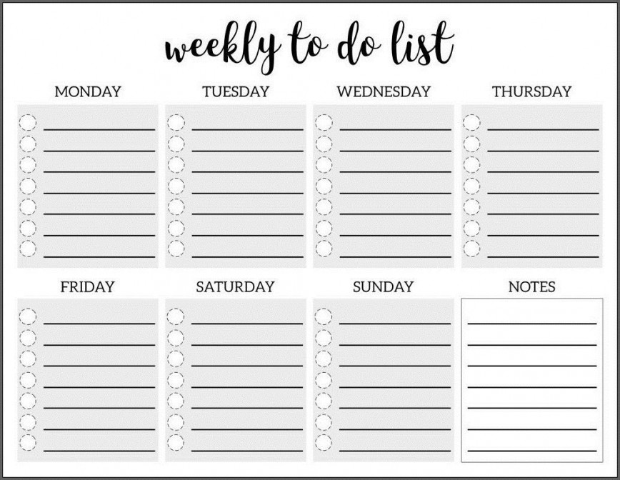 009 Amazing To Do List Template Free Concept