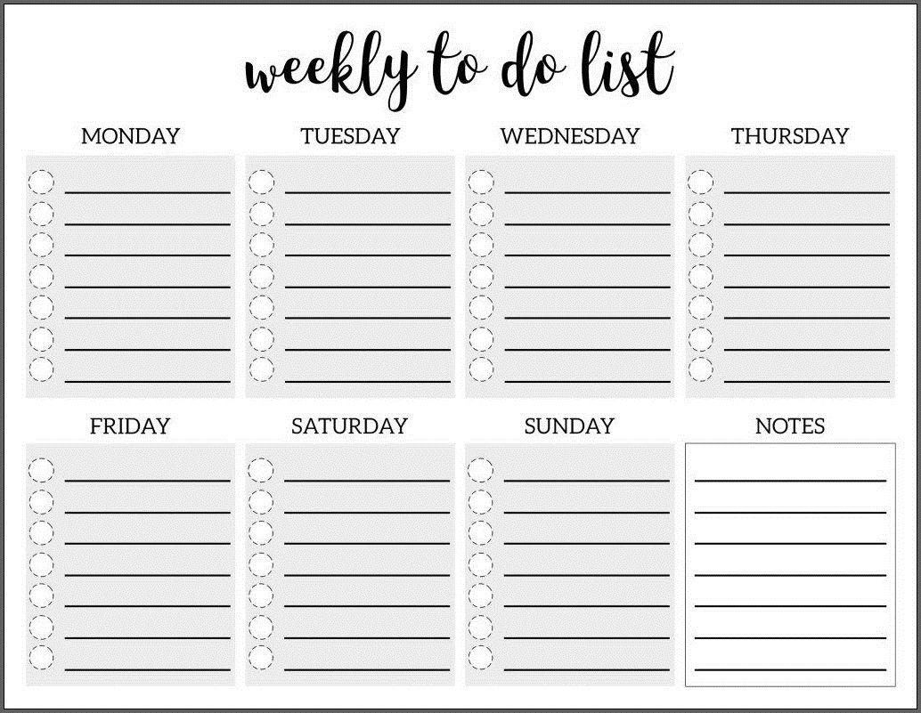 009 Amazing To Do List Template Free Concept Full