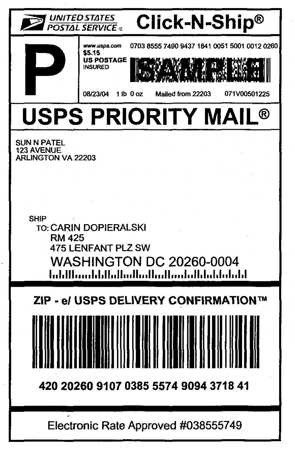 009 Amazing Usp Shipping Label Template Free Image Large