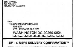 009 Amazing Usp Shipping Label Template Free Image
