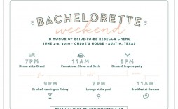 009 Archaicawful Bachelorette Itinerary Template Free Highest Clarity  Party Editable Download