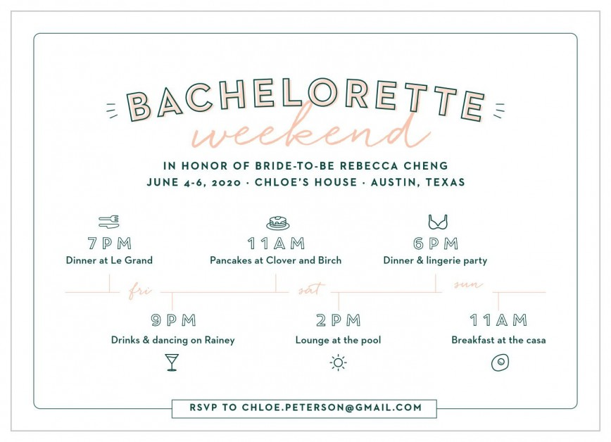 009 Archaicawful Bachelorette Itinerary Template Free Highest Clarity  Editable Download