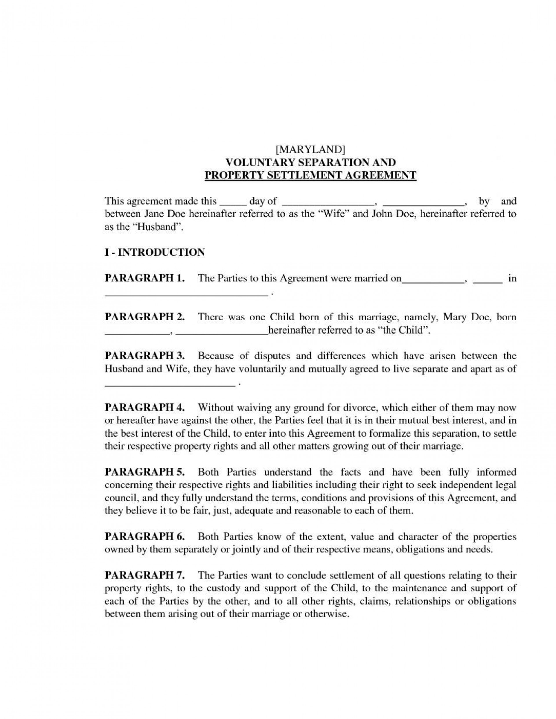 009 Archaicawful Divorce Settlement Agreement Template High Definition  Sample New York Marital Uk South Africa1920