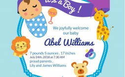 009 Archaicawful Free Baby Announcement Template Highest Quality  Templates Boy Photoshop Printable Shower Invite