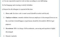 009 Archaicawful Free Employment Handbook Template Idea
