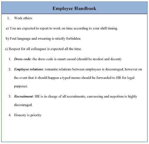 009 Archaicawful Free Employment Handbook Template Idea Full