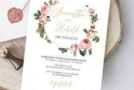 009 Archaicawful Free Engagement Invitation Template Online With Photo Concept