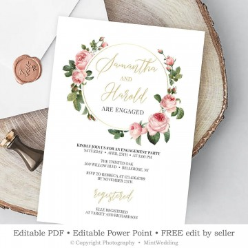 009 Archaicawful Free Engagement Invitation Template Online With Photo Concept 360