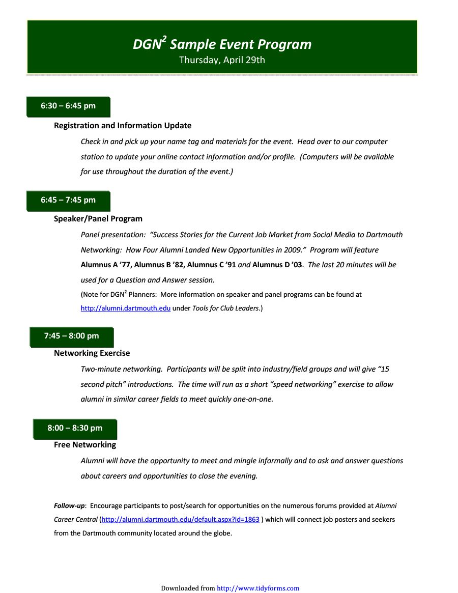 009 Archaicawful Free Event Program Template Example  Schedule Psd WordFull
