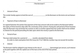 009 Archaicawful Free Loan Agreement Template Design  Ontario Word Pdf Australia South Africa