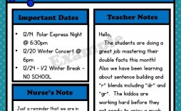 009 Archaicawful Free Newsletter Template For Teacher Idea  Teachers Clas Printable March