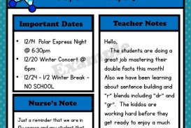 009 Archaicawful Free Newsletter Template For Teacher Idea  Downloadable Editable Preschool