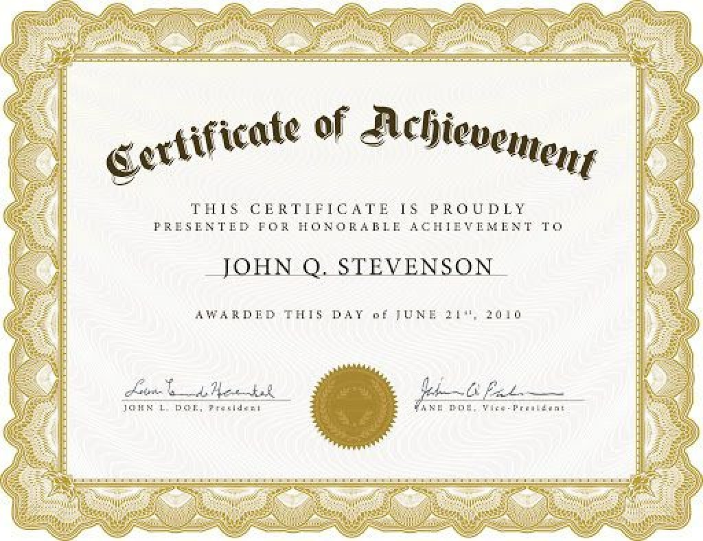 009 Archaicawful Free Printable Certificate Template Word Example  Fun For Blank GiftLarge