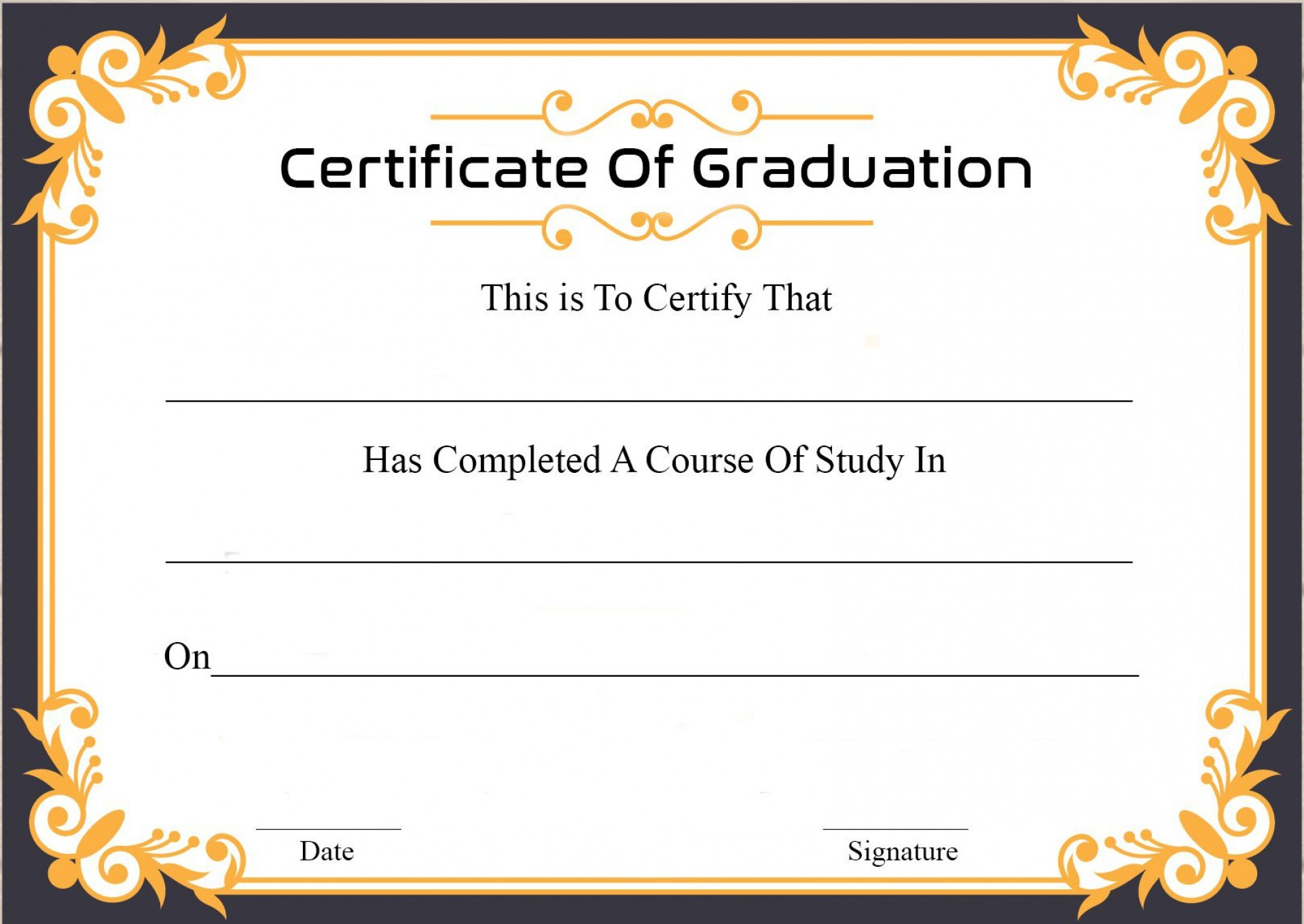 009 Archaicawful Graduation Certificate Template Word Sample  Wording Example Preschool Gift1920