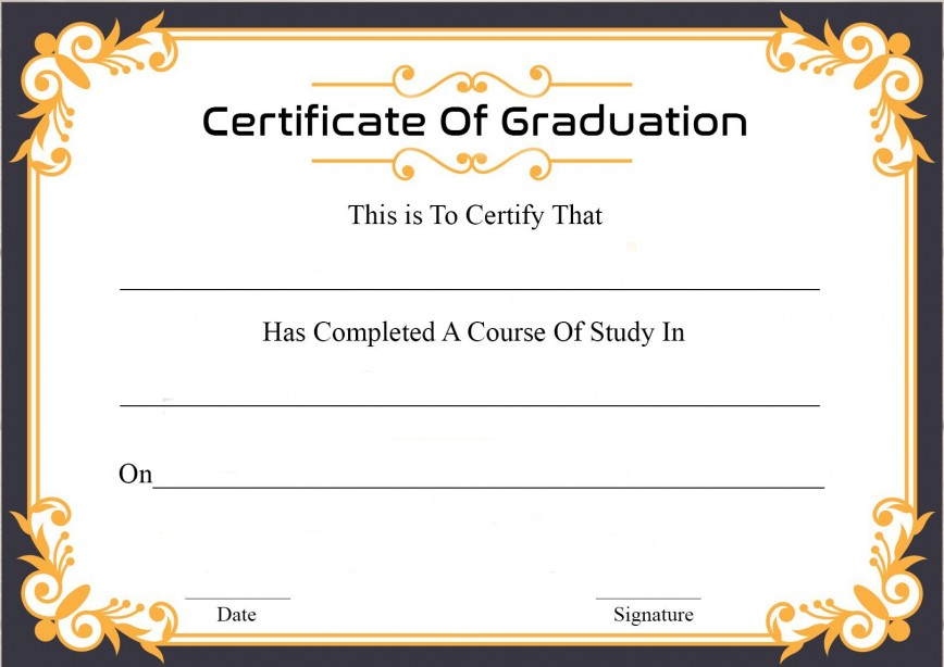 009 Archaicawful Graduation Certificate Template Word Sample  Wording Example Free Kindergarten
