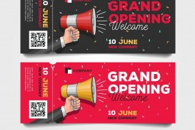 009 Archaicawful Grand Opening Flyer Template High Definition  Free Psd Busines