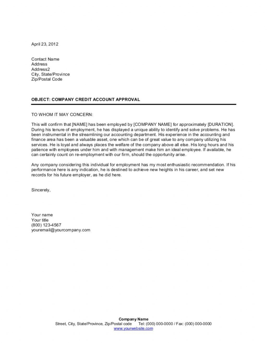 009 Archaicawful Letter Of Recomendation Template High Definition  Reference For Employment Sample Recommendation Teacher Student From EmployerLarge