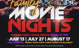 009 Archaicawful Movie Night Flyer Template Sample  Templates Free Microsoft Word