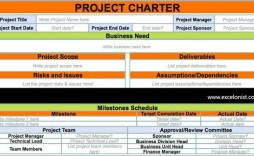009 Archaicawful Project Charter Template Excel Picture  Lean Pmbok Nederland