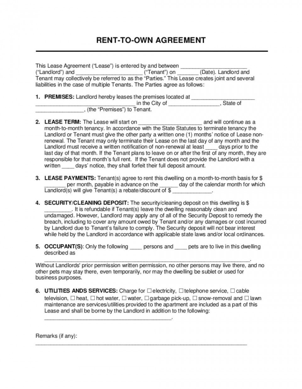 009 Archaicawful Rent To Own Agreement Template Concept  Contract Florida South Africa960