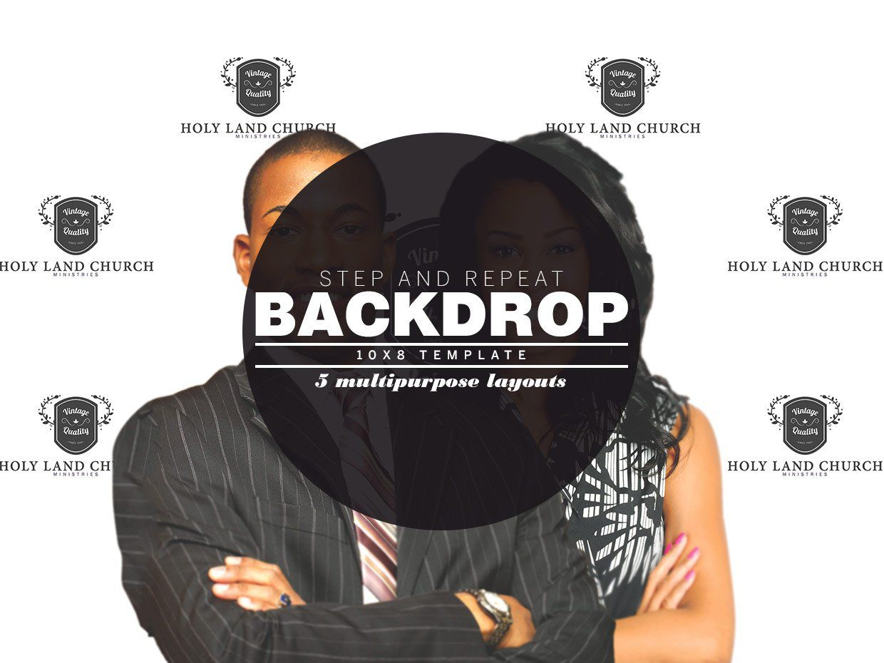 009 Archaicawful Step And Repeat Banner Template Psd Sample Full