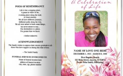 009 Archaicawful Template For Funeral Program On Word High Def  2010 Free Sample Wording