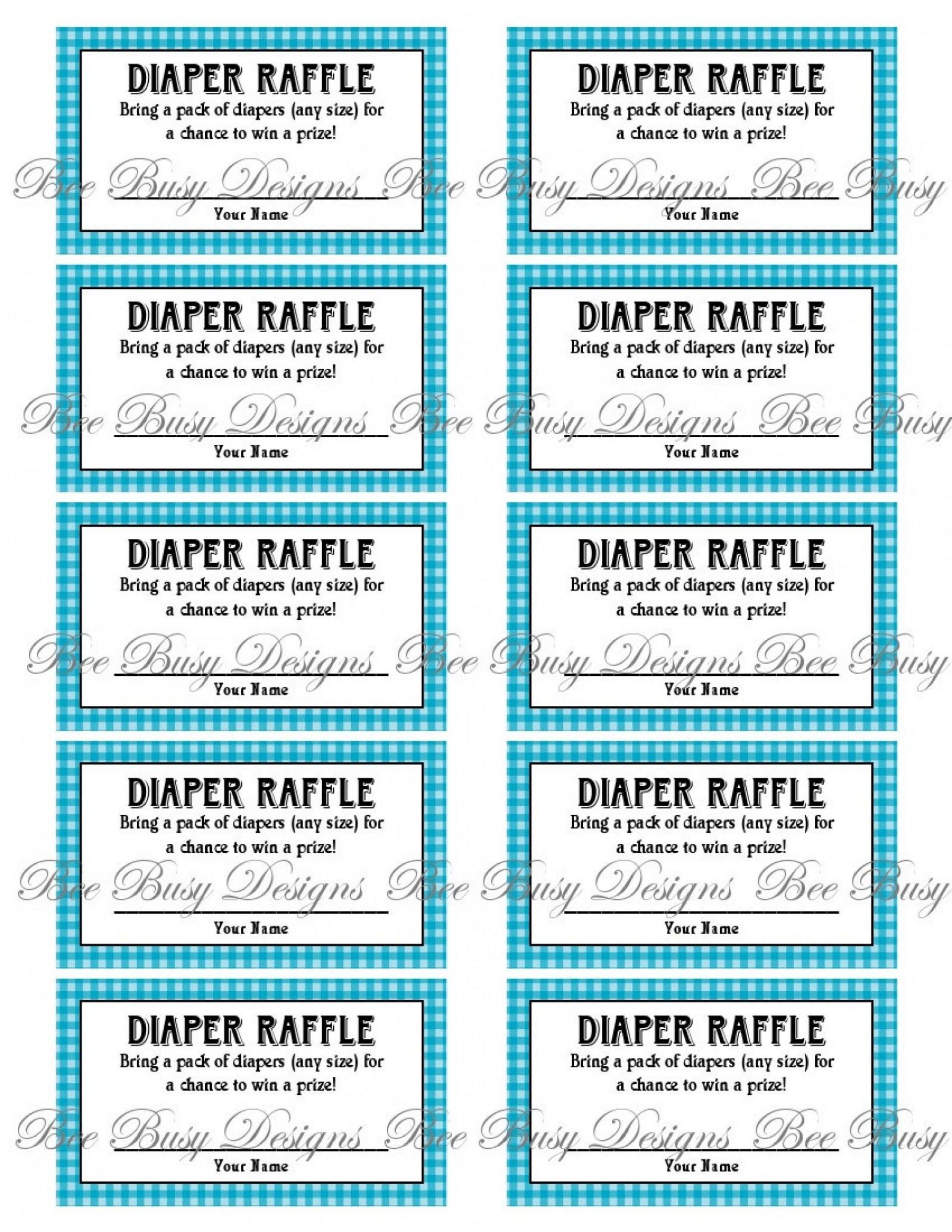 009 Astounding Diaper Raffle Ticket Template High Resolution  Boy Free Printable Print Black And White1920