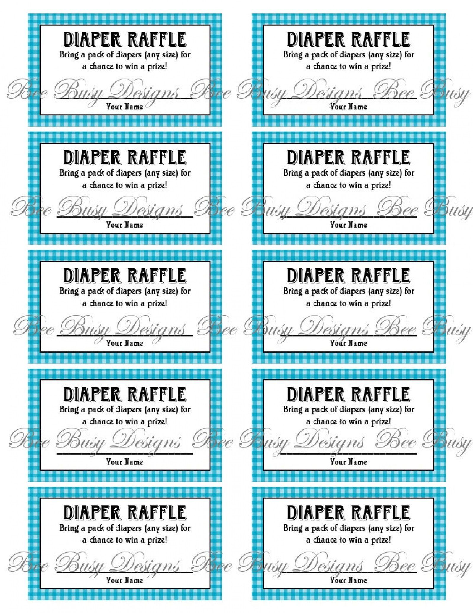 009 Astounding Diaper Raffle Ticket Template High Resolution  Boy Free Printable Print Black And WhiteFull