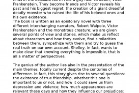 009 Astounding Frankenstein Essay Image  Critical Pdf Question Who I The Real Monster
