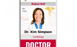 009 Astounding Id Badge Template Word High Definition  Free Employee