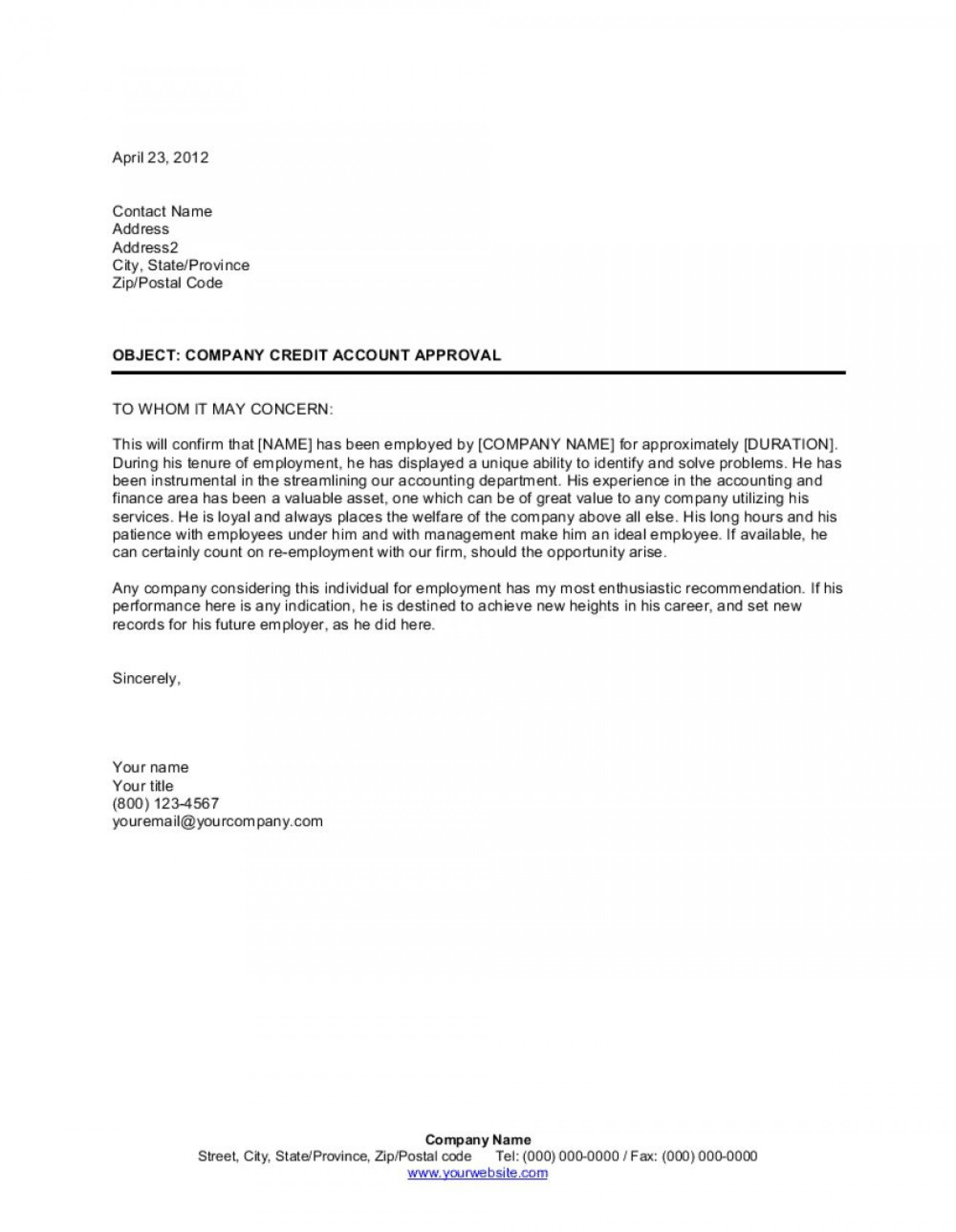 009 Astounding Letter Of Recommendation Template Word High Resolution  General Free Doc1920