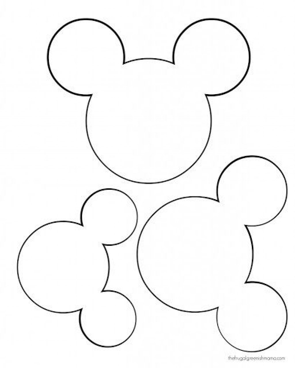 009 Astounding Mickey Mouse Face Template For Cake High Definition  PrintableLarge