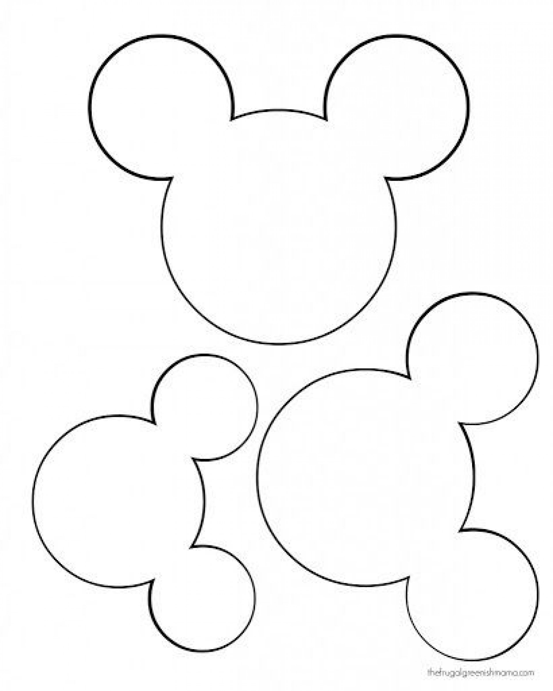 009 Astounding Mickey Mouse Face Template For Cake High Definition  Printable1920