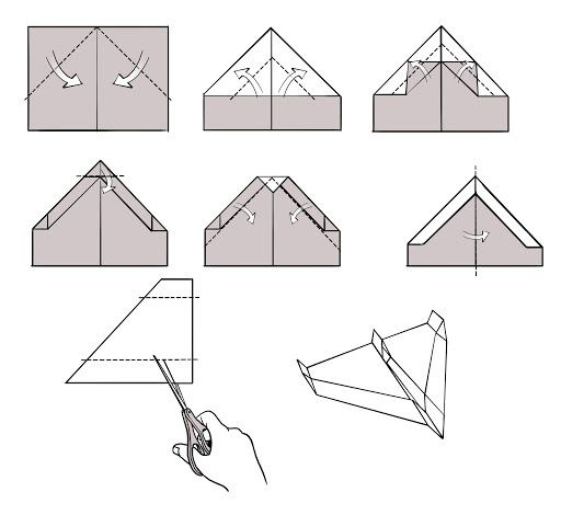 009 Astounding Paper Airplane Design Printable Inspiration  Free Instruction Pdf Simple FoldingFull