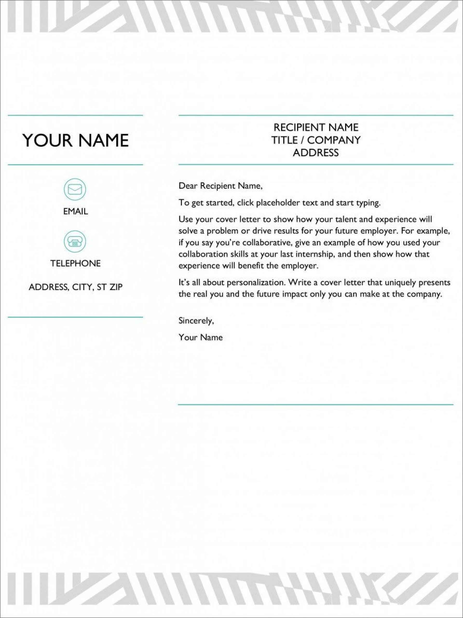 009 Astounding Resume Cover Letter Template Microsoft Word Example 1920