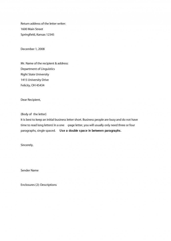 009 Astounding Sample Busines Letter Template Inspiration  Of Intent Formal FreeLarge