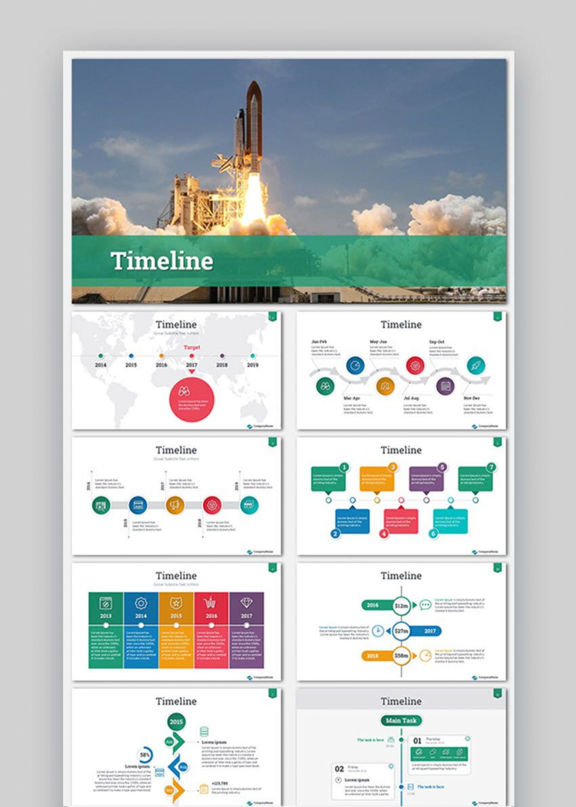 009 Astounding Timeline Template Presentationgo Highest Quality 1920