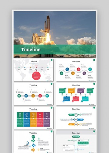 009 Astounding Timeline Template Presentationgo Highest Quality 360