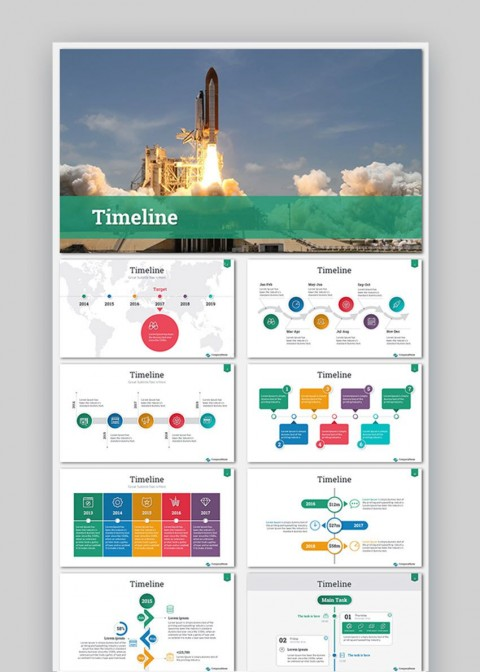 009 Astounding Timeline Template Presentationgo Highest Quality 480