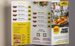 009 Astounding Tri Fold Menu Template Free Inspiration  Wedding Tri-fold Restaurant Food Psd Brochure Cafe Download