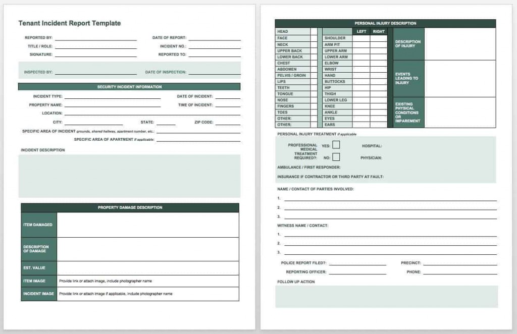 009 Astounding Workplace Incident Report Template Ontario High Def  FormLarge