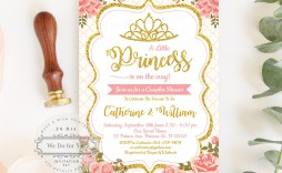 009 Awesome Baby Shower Invitation Girl Princes Highest Clarity  Princess Theme